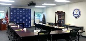 ISG classroom with new logos