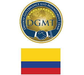 DGMT logo over the Colombian flag
