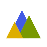 Graphic mountain icon
