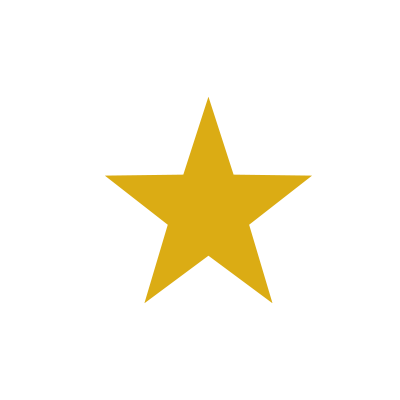 A gold star from the logo