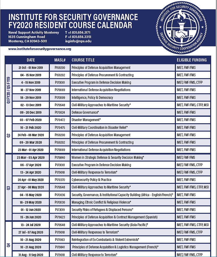 Course Catalog Fiscal Year 2019-2020 Cover