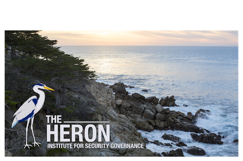 A heron and the monterey bay coast line